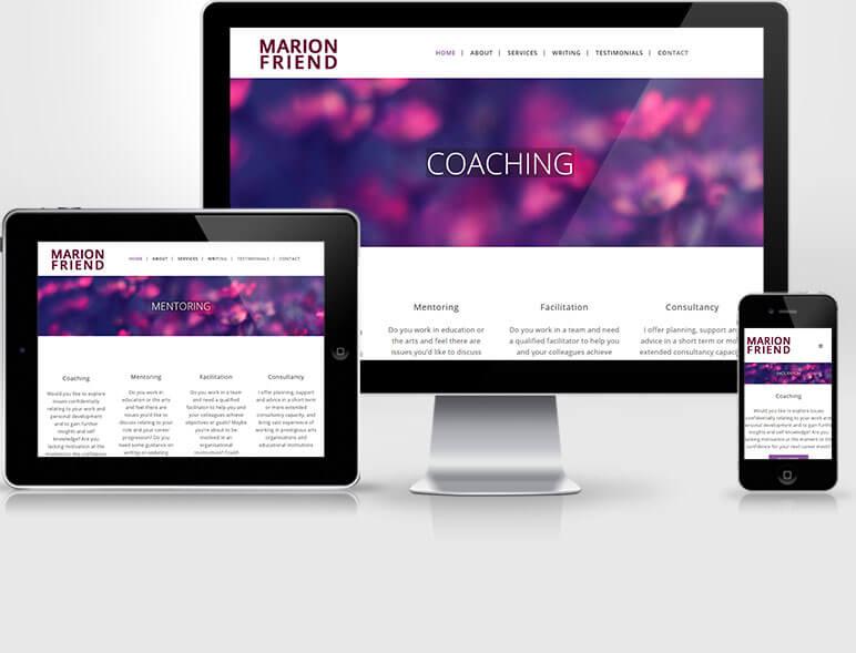 Marion Friend Website Creation