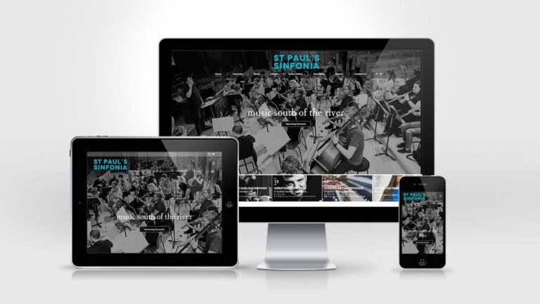 St Paul Sinfonia Website Design