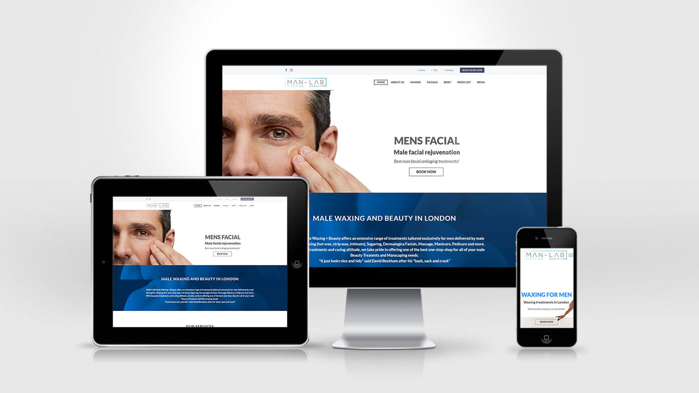Man Lab Website Design Creation