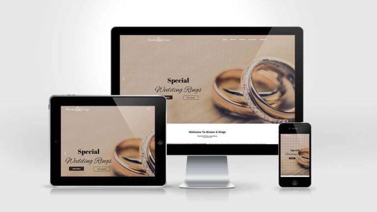 Brown & Kings Website Design