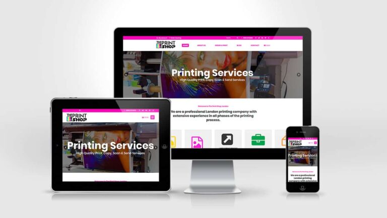 The Print Shop Website Design