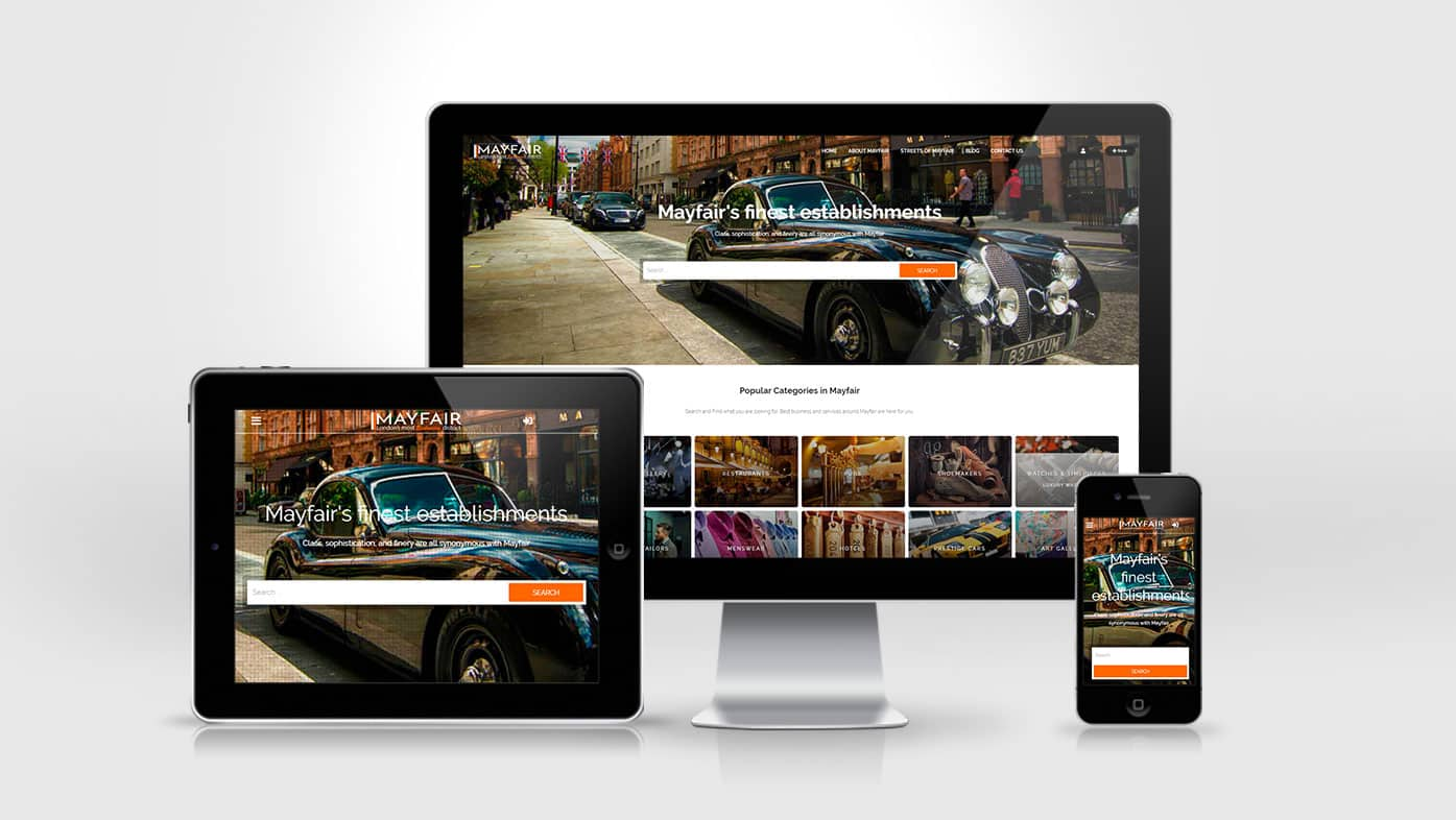 Mayfair London Website Design
