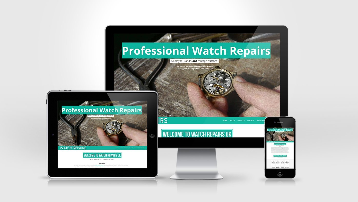 Watch Repairs Website Design Creation